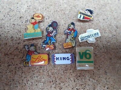 8 Pin's Pins bonbon candy chewing-gum friandise etc...