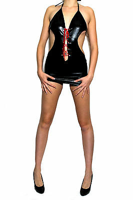 Wet Look mini Party Kleid Rock  GoGo Lack &  Fetisch Wetlook Clubwear  Dessous