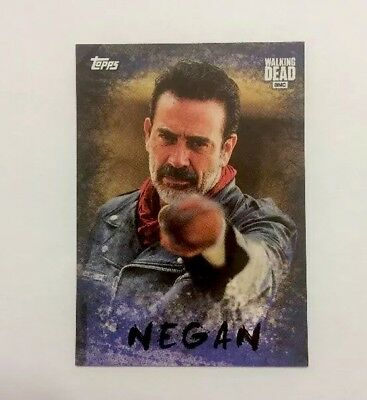 NYCC 2017 Topps The Walking Dead Negan w/Lucille Promo Trading Card