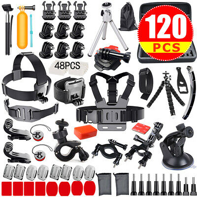 120PCS Camera GoPro Accessories Kit Action Camera Mount Full Accessory Set Sport