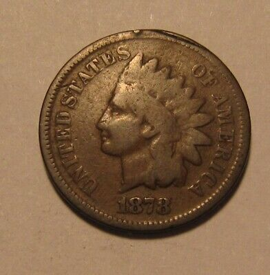 1878 Indian Head Cent Penny - Good to Very Good Condition - 41SU