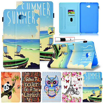 """For Samsung Tab A 8.0"""" T380 T350 Case Smart Magnetic Painted Leather Stand Cover"""