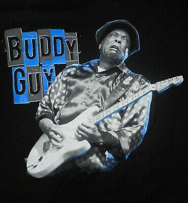BUDDY GUY Concert Band T-Shirt VINTAGE Rock BLUES Guitar Musician Mens NEW : Md
