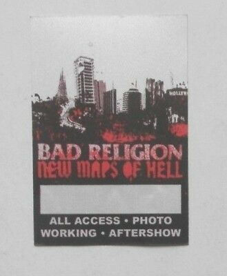 BAD RELIGION New Maps Of Hell  SATIN TOUR PASS   Free Shipping