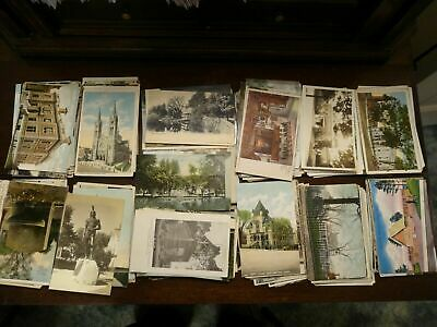 LOT OF 50 USA VINTAGE POSTCARDS ,USED AND UNUSED .1900s - 1960s , 55 CARDS !!