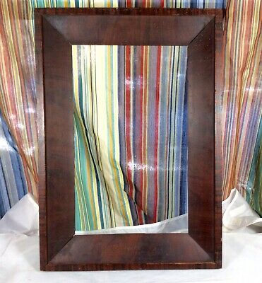 Antique Mid 19th Century Ogee Flame Grain Picture Frame