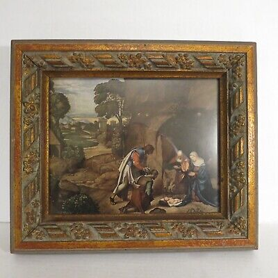 """Antique Solid Wood Carved Picture Frame 13"""" by 11"""""""