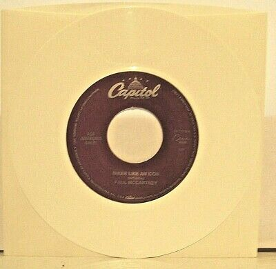 """Paul McCartney """"Biker Like Icon"""" White Vinyl 45rpm """"For Jukeboxes Only"""" NM Cond"""