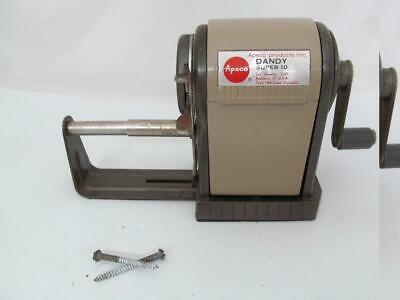Vintage Apsco Dandy Super 10 Pencil Sharpener  Wall /Desk Mount Old School