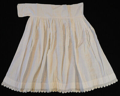 Vintage Cotton Flannel Baby or Child Petticoat w/ Hand Crocheted Lace Trim