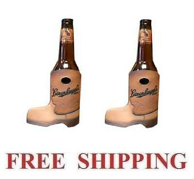 Leinenkugels Cowboy Boot 2 Beer Bottle Coolers Huggie Koozie Coolie Coozie New