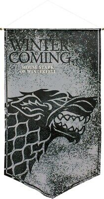 Artwork & Wall Pieces--Game of Thrones - Stark of Winterfell Satin Banner