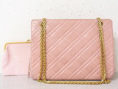 8caedbe2153d RA5731 AUTH CHANEL Pink Lambskin Leather Reissue Chain Shopper Tote Bag -  $378.20 | PicClick