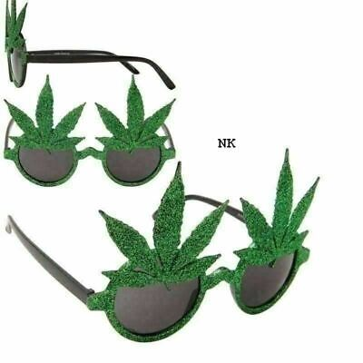d91120de35e5 Marijuana Pot Leaf Weed Bud Ganja Novelty Glasses Party Protest Sunglasses -NEW