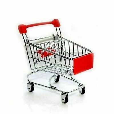 Dollhouse Miniature Mini Metal Shopping Grocery Cart Trolley Red small Thailand