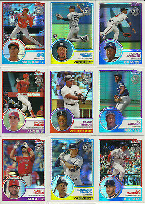 2018 Topps Update SILVER PACK 1983 CHROME Complete Set (50 Cards) Acuna-Soto+