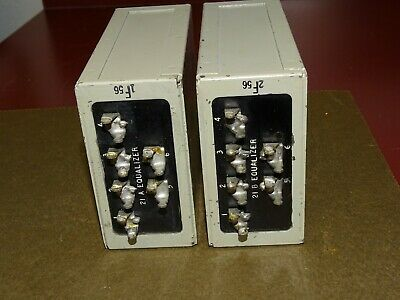 Pair, Western Electric 21A and 21B Equalizers, Inductors, Good