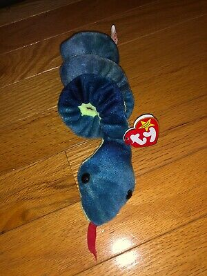 d7e62f1f3e1 TY Beanie Baby Hissy The Snake 1997 Rare Retired- Great Condition-  Collectible