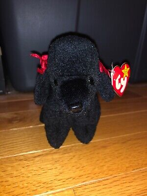 ad1c37c3b63 Ty Beanie Baby GiGi 1997 Poodle Dog w  Tag ERROR Plush Toy RARE RETIRED