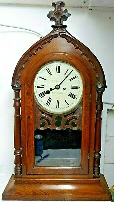 Large Early Twin Fusee Library Clock - D B Greig Stonehaven - Extremely Rare