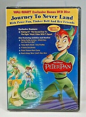 SEALED NEW Peter Pan Journey To Never Land DVD 2007 WalMart Exclusive SHIPS FREE