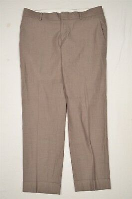 Banana Republic Size 8 Brown The Martin Fit Skinny Ankle Dress Pants