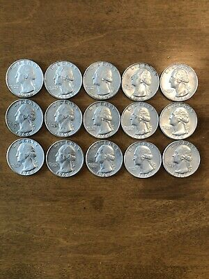 One Roll Of (40) $10 Face Value 90% Silver Washington Quarters 1964