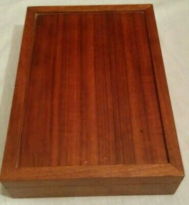 Decorative Trinket Jewelry Storage Box Handmade Vintage Wooden Treasure Case USA