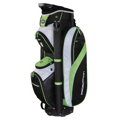 Prosimmon Golf Tour 14 Divider Cart / Trolley Golf Bag Black/Green