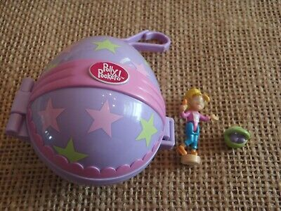 Vintage Polly Pocket Mattel 2001 Easter Egg Painting Clip On Playset - Complete