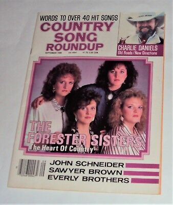 FORESTER SISTERS CHARLIE Daniels Country Song Roundup Magazine September  1986