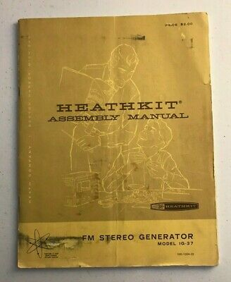 1967 HEATHKIT Assembly Manual FM STEREO GENERATOR Model IG-37 + Schematic
