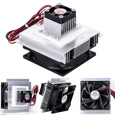 12V 6A Thermoelectric Peltier Refrigeration Cooler Fan Cooling System Kit Hot