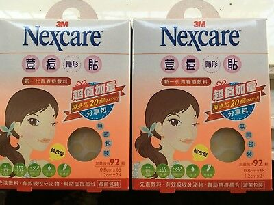 New Pack! 3M Nexcare Acne Care Dressing Pimple Stickers Patch Total 184 Pcs