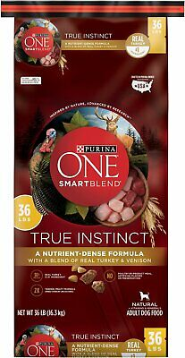 Purina ONE SmartBlend True Instinct with Real Turkey Venison Adult Dry Dog 36-lb