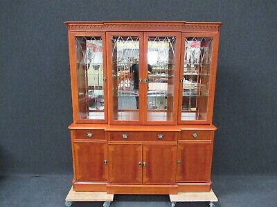 Yew Wood Display Cabinet Regency Design Superb Quality