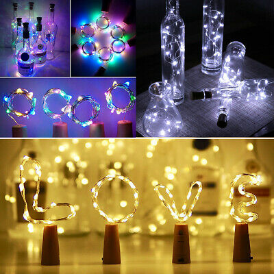 1/3/6X LED Wine Bottles Copper Wire String Fairy Lights Xmas Wedding Party Decor
