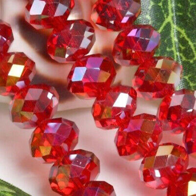 1000pcs Faceted 3x4mm Red Crystal Gemstone Rondelle Abacus Loose Beads AAA