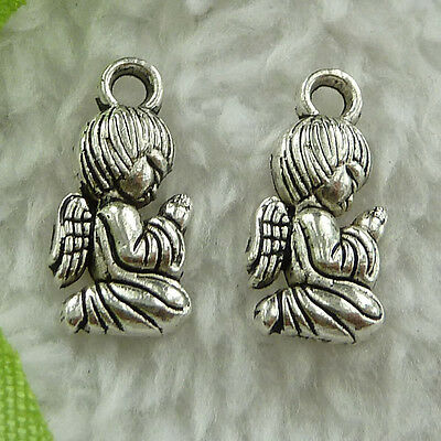 free ship 440 pieces tibet silver Pray that the angels charms 16x8mm #2805