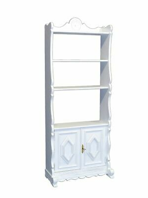 Regal Wandregal Holzregal Antik Stil in Shabby Chic weiß 164x66x29 cm (8873)