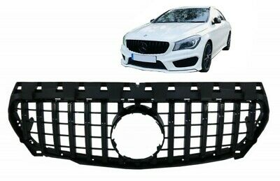 Grille For Mercedes CLA C117 X117 W117 CLA45 GT-R Panamericana Look Full Black