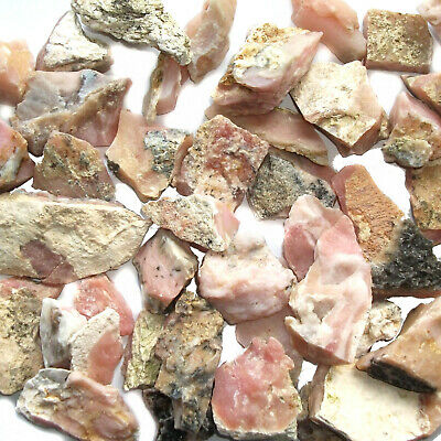 Pink Peruvian Opal Crystal Mineral Raw Rough Stone Natural Specimen Heart Chakra