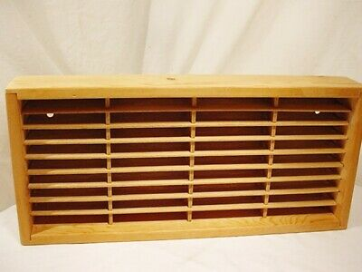 Napa Valley Box Co. 36 Cassette Tape Wood Storage Holder Wall Rack Quick Ship