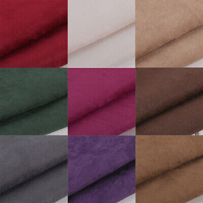 Upholstery Fabric Faux Plain Craft Multi-color Top Quality Suedette Material