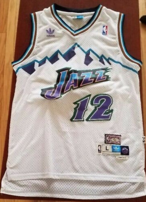 separation shoes d09cd 2c41b JOHN STOCKTON JERSEY #12 Utah Jazz White Retro Hardwood Classics Swingman  NWT