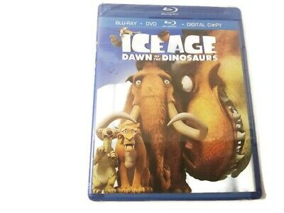 NEW & SEALED Ice Age Dawn Of The Dinosaurs Blu Ray + DVD + Digital Copy