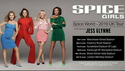 SPICE GIRLS Tickets biglietti - Coventry UK 04-06-19
