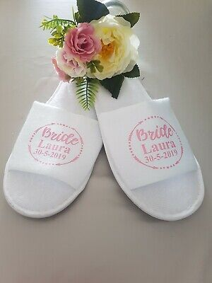 Bridal party wedding morning slippers spa hen do wedding bridesmaid gift
