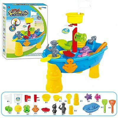 Large 24-Piece Pirate Ship Boat Sand and Water Table Garden Sandpit Play Set Toy