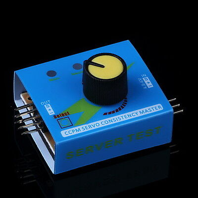 Multi Servo Tester 3CH ECS Speed Controler Power Channels CCPM Meter Checker RN